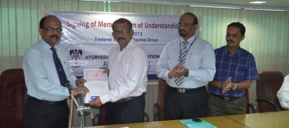 AMAI signed MOU with federal bank today for specialised banking services to  members.